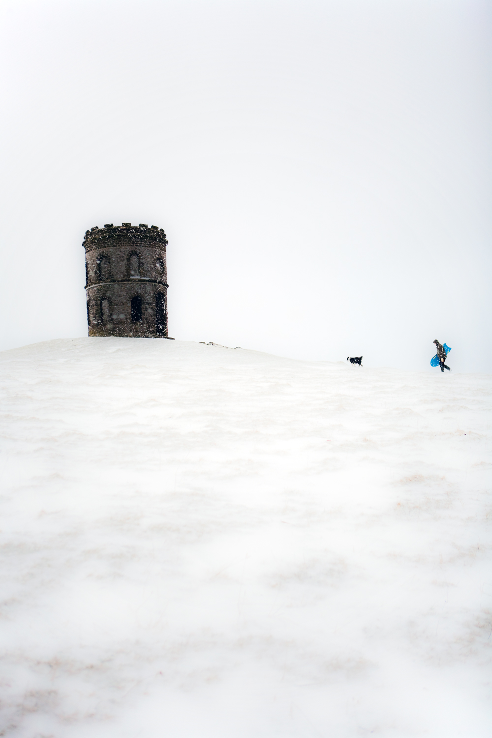 Peak District Winter Photography Tips snow surfer